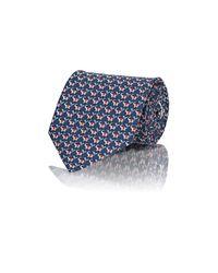 Ferragamo | Blue Men's Elephant-print Twill Necktie for Men | Lyst