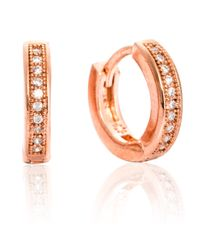 Astrid & Miyu | Metallic The Perfect One Earrings In Rose Gold | Lyst