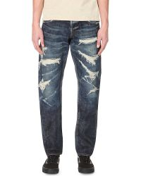 80a489c8 Lyst - Mastercraft Union Relaxed-fit Tapered Jeans in Blue for Men