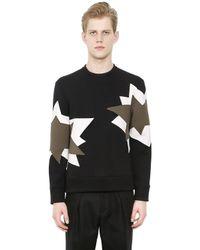 Neil Barrett | Black Neoprene Sweatshirt With Inserts | Lyst