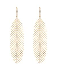 Sidney Garber - Metallic Women's Flexible Feather Earrings - Lyst