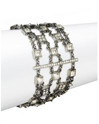 Lauren by Ralph Lauren | Metallic Hematite Crystal Multi-row Bracelet | Lyst