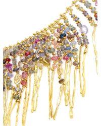 Natasha Collis - Multicolor 18kt Yellow Gold Treasure Necklace - Lyst
