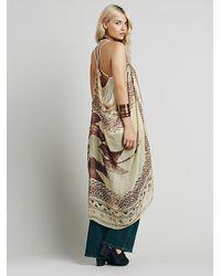 Free People Brown Womens Midnight Muse Sleeveless Kimono