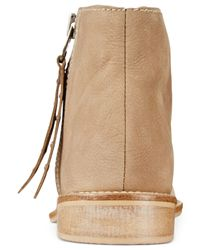 Charles by Charles David | Natural Brody Fold Over Zip Booties | Lyst