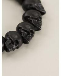 Alexander McQueen | Black Skull Bead Bracelet | Lyst