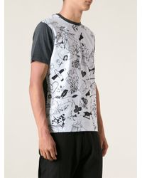 Carven - Blue Graphic Print Tshirt for Men - Lyst