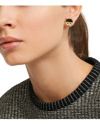 Tory Burch | White Dipped Logo Stud Earring | Lyst
