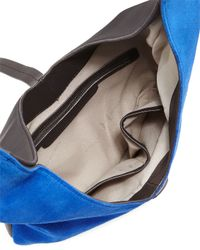 Halston - Blue Two-tone Leather Hobo Bag - Lyst