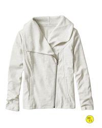 Banana Republic | Gray Factory Jersey Moto Jacket | Lyst