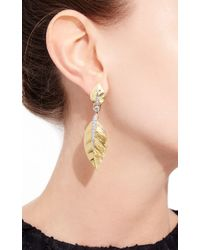 David Webb | Metallic Laurel Leaf Earrings | Lyst