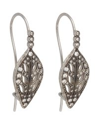 Cathy Waterman - White Leaf Drop Earrings Size Os - Lyst