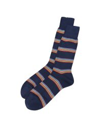 Paul Smith | Blue Multi Block Stripe Socks for Men | Lyst
