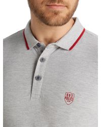 883 Police | Gray Akil Polo Shirt for Men | Lyst
