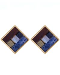 Lulu Frost | Blue Gold-tone Petra Stud Earrings | Lyst