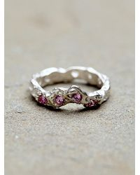 Free People - Pink Alexandra Dodds Womens Sunken Stones Ring - Lyst