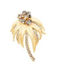 Dolce & Gabbana - Metallic Crystal Embellished Brooch - Lyst