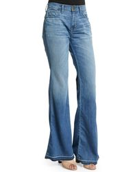 Current/Elliott | Blue The Low Bell Jeans | Lyst