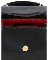 Lulu Guinness Black Mini Izzy Polished Leather Shoulder Bag