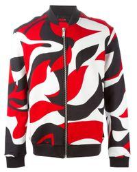Alexander McQueen | Black Abstract Print Bomber Jacket for Men | Lyst