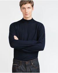 Zara | Blue High Neck Sweater for Men | Lyst