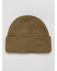 TOPMAN | Brown Camel Mini Roll Beanie Hat for Men | Lyst