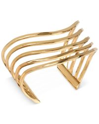 Robert Lee Morris | Metallic Bronze-tone Hammered Multi-row Cuff Bracelet | Lyst