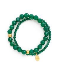 Satya Jewelry | Green Beaded Stretch Bracelets | Lyst
