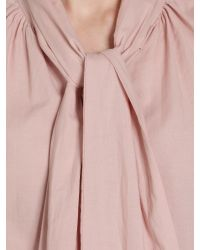 Somerset by Alice Temperley Pink Tie Neck Cotton Blouse