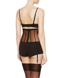 La Perla | Black Short With Suspenders | Lyst