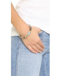 Alexis Bittar - Black Colorblock Hinged Bangle Bracelet - Lyst