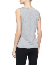Lafayette 148 New York - Metallic Fine-gauge Merino Tank Top - Lyst