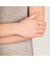Dutch Basics | Pink Hef Fine Chain Bracelet Rose Gold | Lyst
