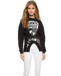 McQ - Elastic Detail Sweatshirt - Darkest Black - Lyst