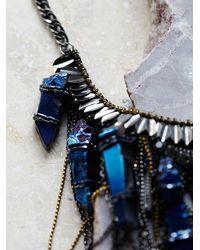 Free People | Blue Deepa Gurnani Womens Ashlyn Statement Crystal Necklace | Lyst