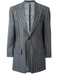 Vivienne Westwood - Gray Pinstriped Wool and Cotton Blazer - Lyst