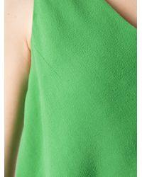 Carven Green Sleeveless Blouse