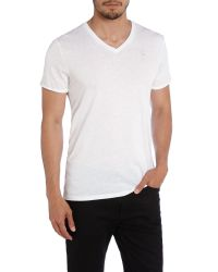 G-Star RAW | White Mikan Regular Fit V-neck T-shirt for Men | Lyst
