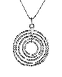 David Yurman Metallic Willow Pendant With Diamonds On Chain