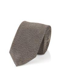 BOSS Gray Silk Tie: 't-tie 6 Cm' for men