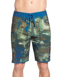 RVCA - Blue 'shelton' Scallop Board Shorts for Men - Lyst