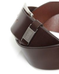 BOSS Brown Connio Leather Belt for men
