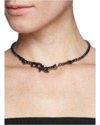 Iosselliani | Black Asymmetric Zircon Collar Necklace | Lyst