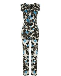 Oasis Multicolor Shadow Pansy Jumpsuit