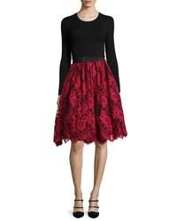 Alexis Red Lorelei Lace A-line Skirt