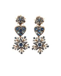 Oscar de la Renta | Blue Stars And Heart Clip Earring | Lyst