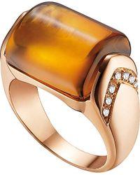 BVLGARI - Mvsa 18Ct Pink-Gold And Diamond Ring - Lyst