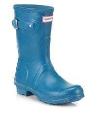 HUNTER - Blue Original Short Rain Boots - Lyst