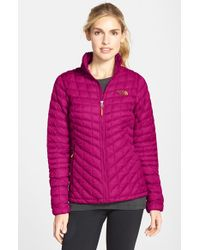 The North Face Pink 'thermoball' Primaloft Front Zip Jacket
