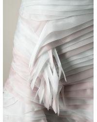 Ermanno Scervino - Gray - Strapless Layered Ruffle Dress - Women - Silk/polyamide/spandex/elastane - 40 - Lyst